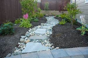 Close up of Flagstone Walkway - Rustic - Patio - seattle