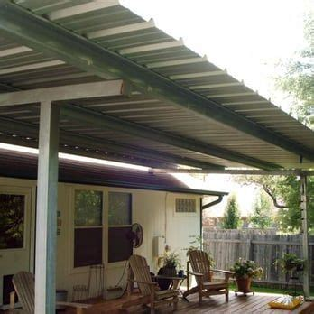 patio cover  standing  deck  galvanized