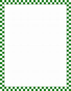Green and White Checkered Border