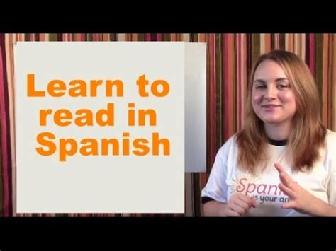 learn  read  spanish youtube