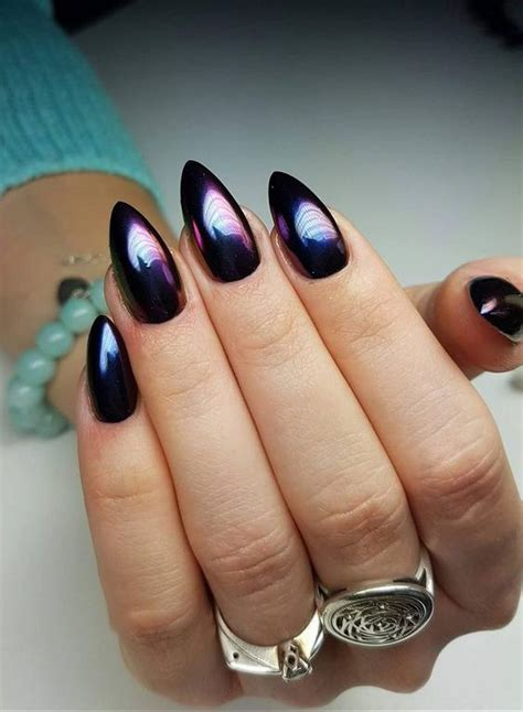 Beautiful Metallic Chrome Nail Art Designs u0026 Tutorial Step by Step
