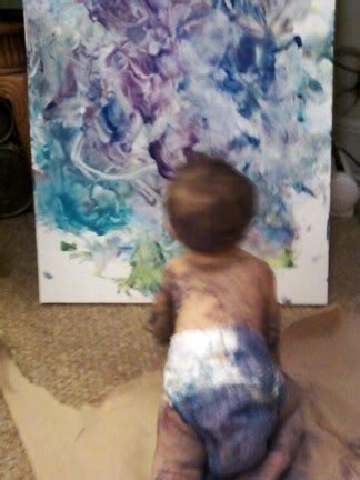 painting activity  babies totschooling toddler