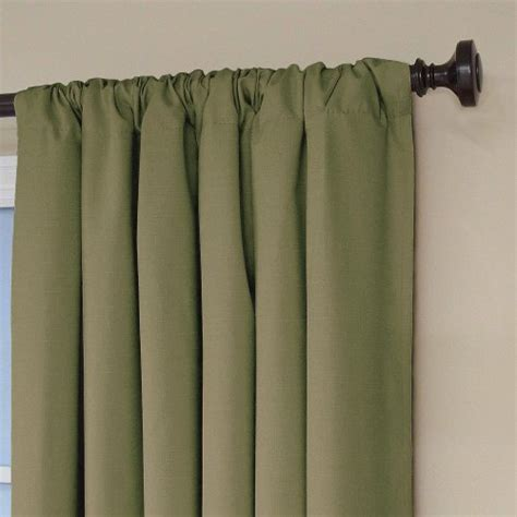 eclipse kendall blackout thermal curtain panel artichoke