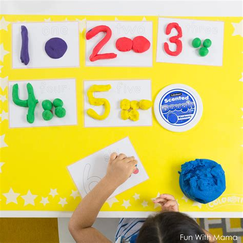 number recognition activities for preschoolers 664 | playdough number mats
