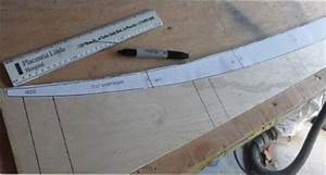 Full size spar templates to build a hollow wooden surfboard for Longboard template maker