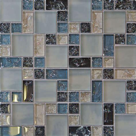 Kitchen Mosaic Tile Backsplash by 1 Sf Blue Crackle Glass Mosaic Tile Backsplash Kitchen