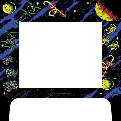 Xtension Arcade Cabinet Graphics by 187 Custom Galaga Graphic Bezel For The Xtension Arcade