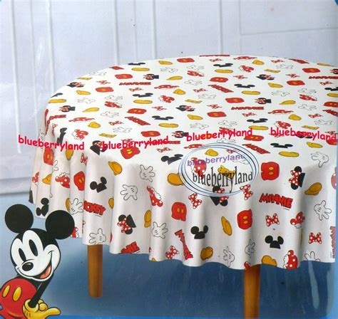 """Disney Mickey Mouse Polyster Table Cloth Round 60 x 60 """" home"""