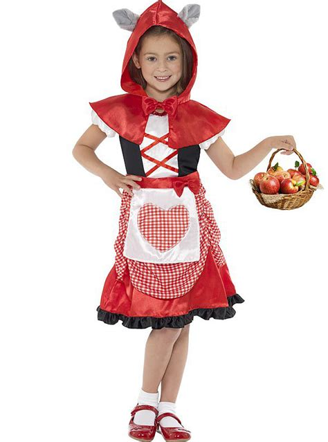 Disfraz de caperucita roja feroz para niña Have Fun