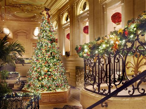 the 12 best hotel christmas trees photos cond 233 nast