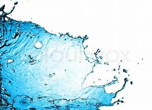 Cool water on white background | Stock Photo | Colourbox