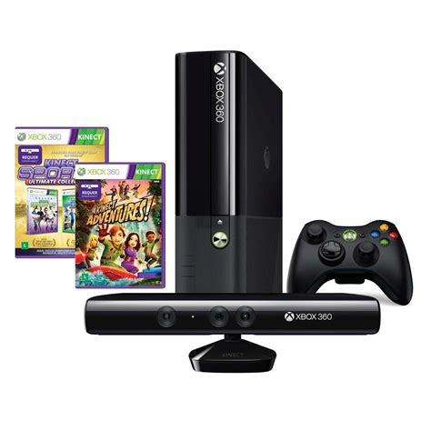 xbox 360 console with kinect console xbox 360 4gb kinect jogo kinect sports ultimate