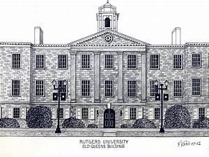Rutgers University Drawing by Frederic Kohli