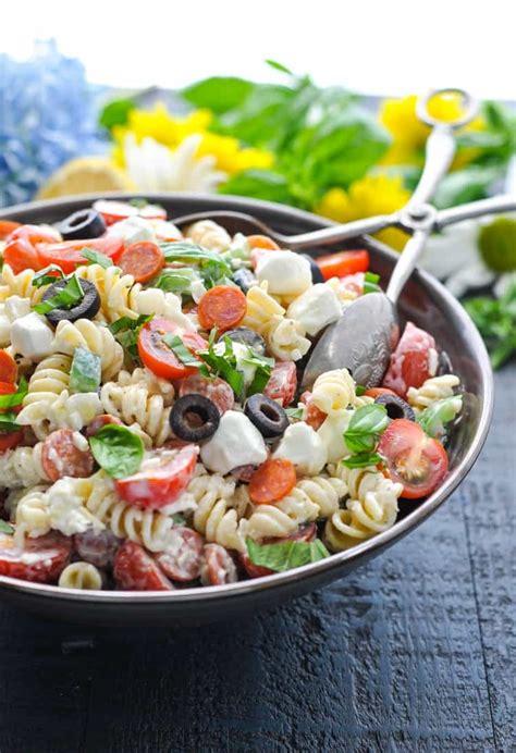 Pasta salad is a summer staple for a reason. Creamy Italian Pasta Salad - The Seasoned Mom