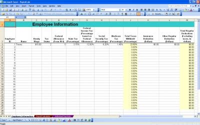 payroll calculator payroll calculator template
