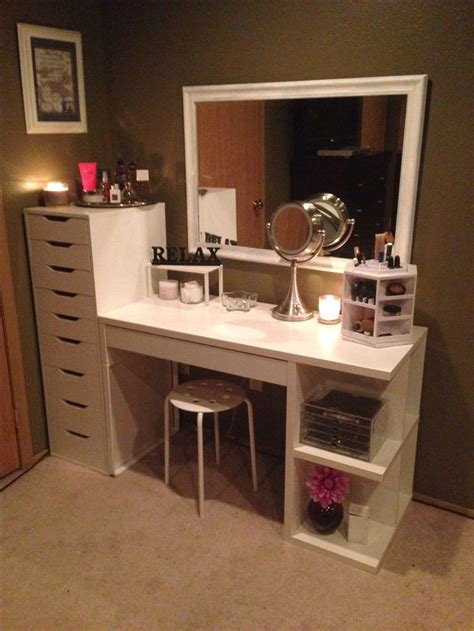 makeup desk with makeup organization and storage desk and dresser unit