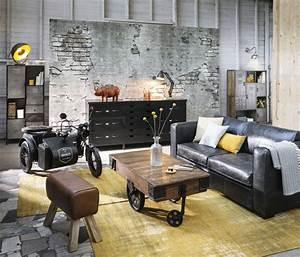 Maison Du Monde Berlin : canap lit 3 places en cuir noir berlin maisons du monde ~ A.2002-acura-tl-radio.info Haus und Dekorationen