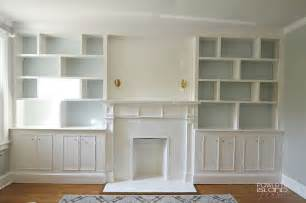 Built in Bookshelves Fireplace