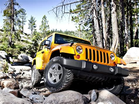 Car Wallpapers Yellow Jeep Wrangler Rubicon Vehicles