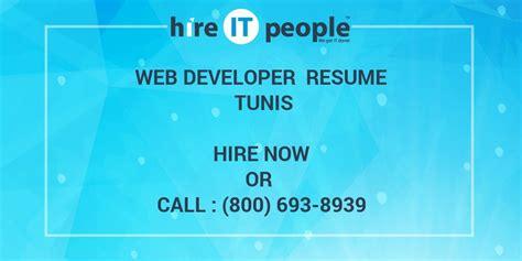 web developer resume tunis hire  people