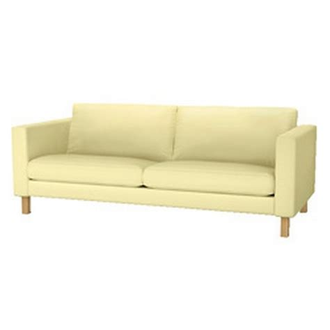 Ikea Karlstad Sofa Slipcover Cover Sivik Light Yellow 3
