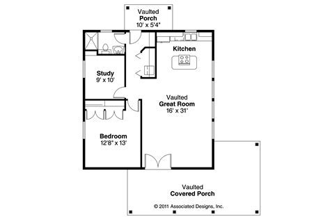 Bungalow House Plans   Kent 30 498   Associated Designs
