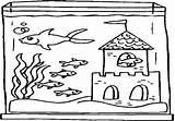 Coloring Fish Tank Aquarium Pages Getcolorings Printable Getdrawings Colorings sketch template