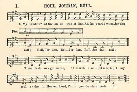 Michael Row The Boat Ashore Slave Song by Roll Jordan Roll The Slave Song Lucy Mckim Taught The