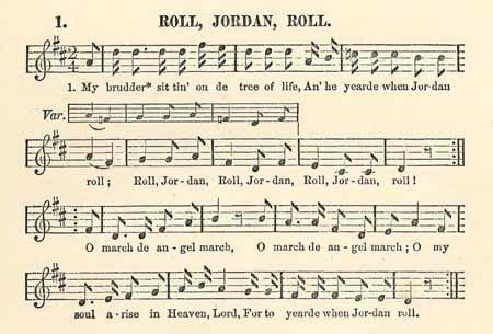 Michael Row The Boat Ashore Negro Spiritual Lyrics by Roll Jordan Roll The Slave Song Lucy Mckim Taught The