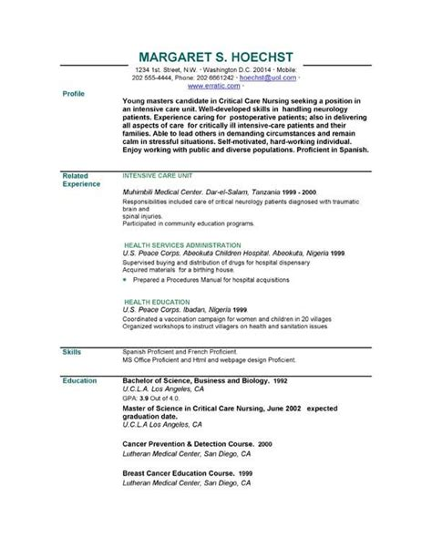 Curriculum Vitae And Resume Exles by Resume Word Format Writersstuff Web Fc2