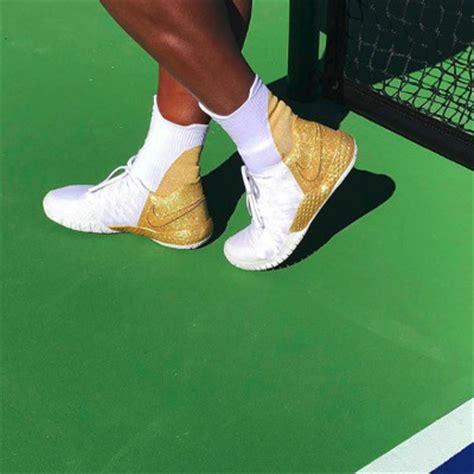 serena reveals shiny gold nike kicks for australian open title defense s tennis