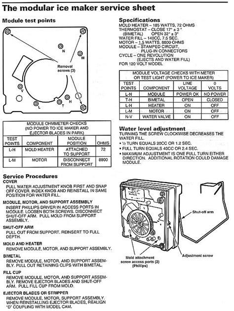 kenmore ice maker parts diagram automotive parts diagram