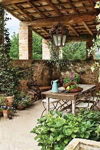 tuscan patio tuscan style decor pinterest With katzennetz balkon mit pensee royal garden homepage