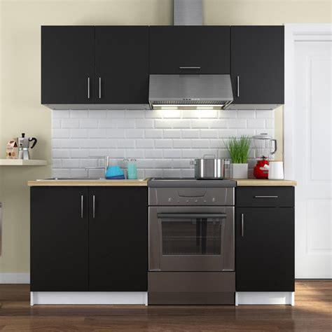cuisine complete electromenager inclus cuisine complète coloris noir mat 180cm mariar
