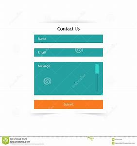 simple contact us form templates vector template stock With contact us php template