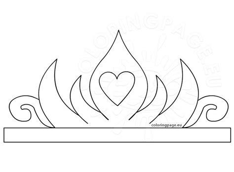 princess paper crown printable coloring page