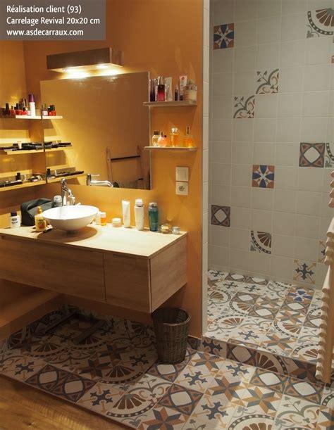 meuble cuisine 60 carrelage imitation anciens carreaux de ciment décor