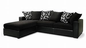 Canapé D Angle Tissu Noir : canap d 39 angle tissu noir pas cher canap tissu ~ Teatrodelosmanantiales.com Idées de Décoration