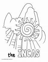 Coloring Pages Saul Incas Printable Paul Becomes Homeschool Machu Pichu History Inkas Getcolorings sketch template