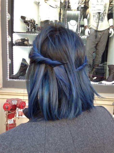midnight blue hair images  pinterest braids