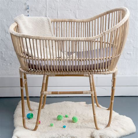 Rattan Cane Baby Crib By Lu & Barnabe  Clever Little Monkey