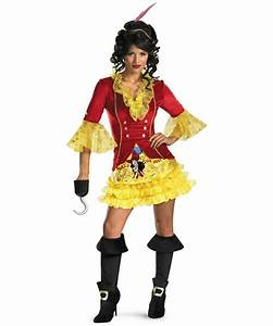 Adult Sassy Captain Hook Disney Costume - Women Costumes