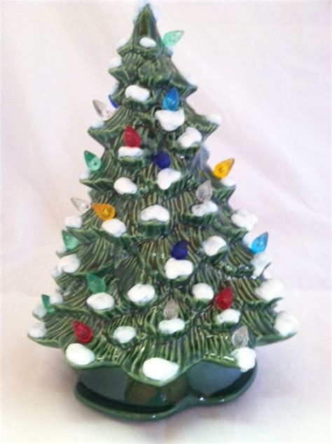 green ceramic christmas tree with lights unavailable listing on etsy
