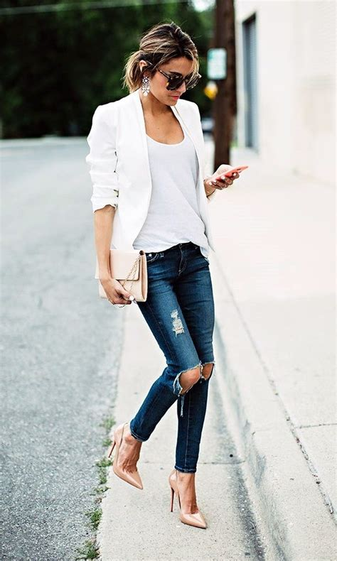 Best 25+ White jacket outfit ideas on Pinterest | Outfits with white blazer Off white jacket ...