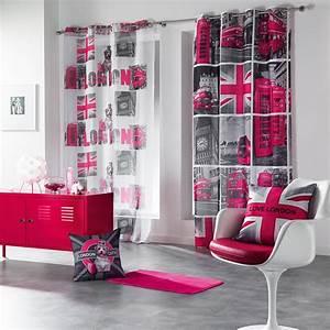 rideau rose chambre fille 5 deco londres rose modern aatl With deco chambre de fille