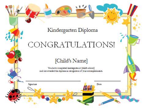 kindergarten diploma certificate 355 | image