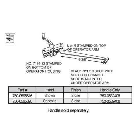andersen sill mounted casement operators