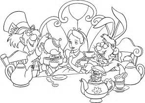 Alice in Wonderland Coloring Pages Free