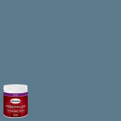 glidden premium 8 oz hdgb60d pacific rim blue eggshell interior paint sle with primer