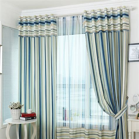 lively blue room darkening striped curtains for bedroom